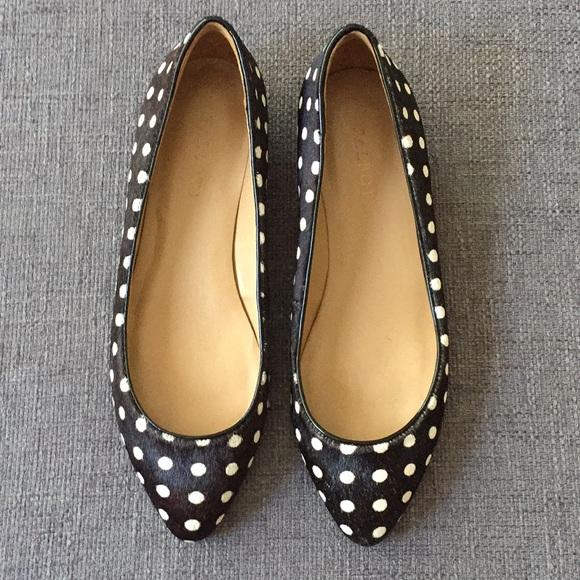92654cca41a0 Talbots Shoes | Sale Calf Hair Polka Dot Flats W Mini Wedge | Poshmark